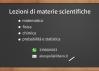 Lezioni di materie scientifiche a L'Aquila